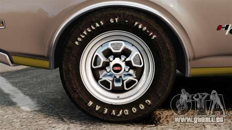 Oldsmobile Cutlass Hurst 442 1969 v1 für GTA 4 Rückansicht