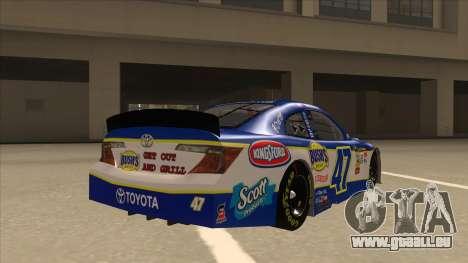 Toyota Camry NASCAR No. 47 Bushs Beans für GTA San Andreas rechten Ansicht