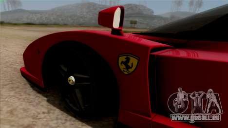Ferrari Enzo 2002 für GTA San Andreas Rückansicht