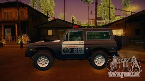 Ford Bronco 1966 Sheriff pour GTA San Andreas laissé vue