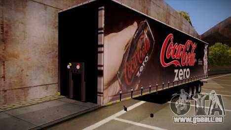 Sider semi-remorque Coca-cola zéro pour GTA San Andreas laissé vue
