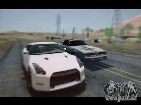 Nissan GT-R Egoist v2 pour GTA San Andreas sur la vue arrière gauche