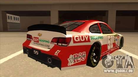 Chevrolet SS NASCAR No. 51 Guy Roofing für GTA San Andreas rechten Ansicht