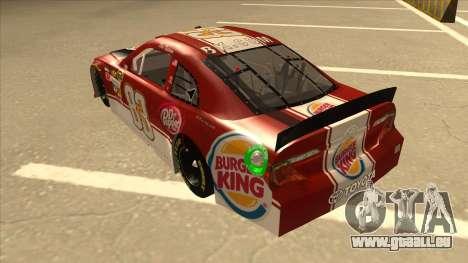 Toyota Camry NASCAR No. 83 Burger King Dr Pepper für GTA San Andreas Rückansicht