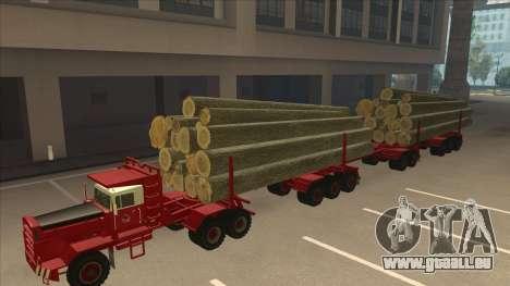 Hayes camion H188 pour GTA San Andreas vue arrière