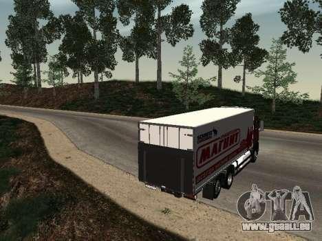 MAN TGA 26350 aimant pour GTA San Andreas sur la vue arrière gauche