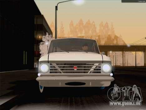 Moskvich 408 für GTA San Andreas zurück linke Ansicht