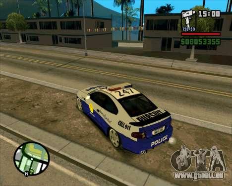 Pontiac GTO Pursit Edition pour GTA San Andreas vue de droite