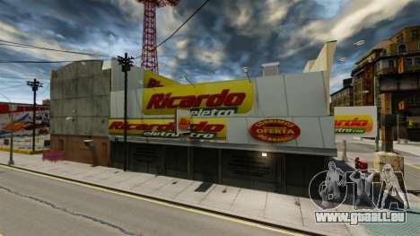 Brasilianischer Läden für GTA 4 Sekunden Bildschirm