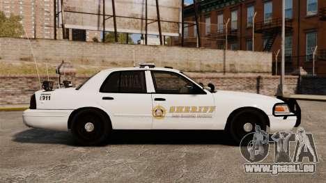 GTA V sheriff car [ELS] für GTA 4 linke Ansicht