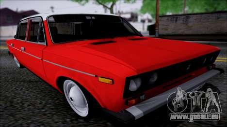 VAZ 2106 Retro pour GTA San Andreas vue arrière