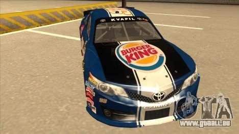 Toyota Camry NASCAR No. 93 Burger King Dr Pepper für GTA San Andreas linke Ansicht