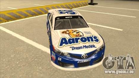 Toyota Camry NASCAR No. 55 Aarons DM blue-white pour GTA San Andreas laissé vue