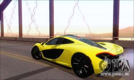 McLaren P1 EPM pour GTA San Andreas sur la vue arrière gauche