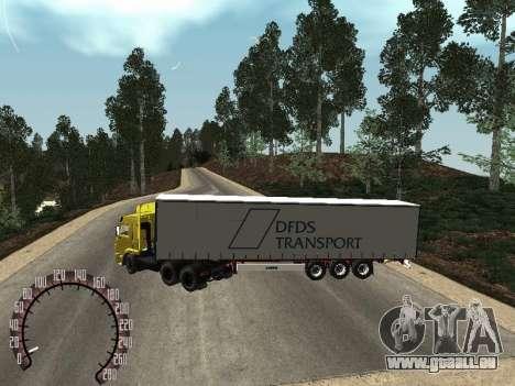 Trailer für Kamaz 54115 für GTA San Andreas zurück linke Ansicht