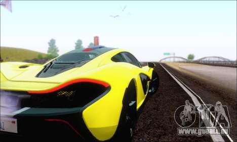 McLaren P1 EPM pour GTA San Andreas vue de dessus