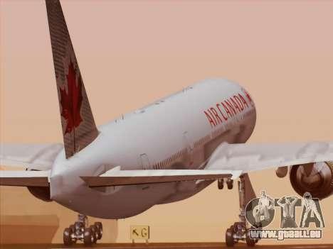 Boeing 777-200ER Air Canada für GTA San Andreas Unteransicht