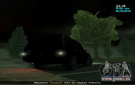 Huntley Mp-Bandit für GTA San Andreas Rückansicht
