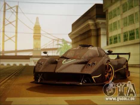 Pagani Zonda R pour GTA San Andreas laissé vue