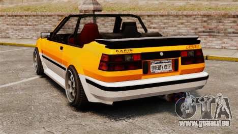Cabrio-Version des Futo für GTA 4 hinten links Ansicht