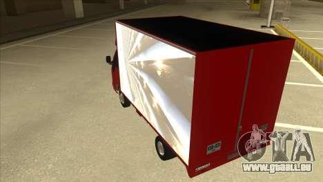 JAC 1040 pour GTA San Andreas vue arrière