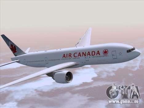 Boeing 777-200ER Air Canada für GTA San Andreas Innenansicht