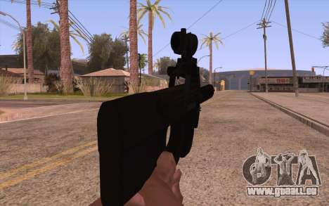P90 AEG avec lampe de poche pour GTA San Andreas troisième écran