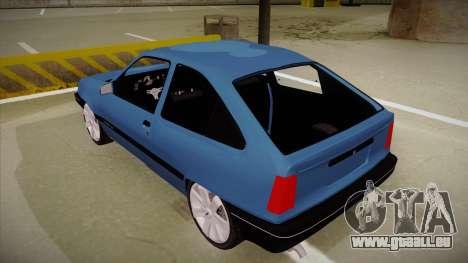 Chevrolet Kadett pour GTA San Andreas vue arrière