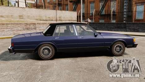 Chevrolet Caprice Brougham 1986 pour GTA 4 est une gauche