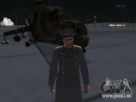 Colonel général de la force aérienne soviétique pour GTA San Andreas quatrième écran