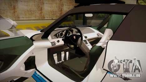 Porsche Carrera GT 2004 Police White pour GTA San Andreas vue intérieure