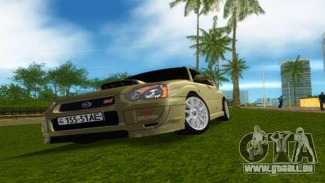 Subaru Impreza WRX STi für GTA Vice City Innenansicht