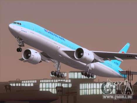 Boeing 777-2B5ER Korean Air für GTA San Andreas Seitenansicht