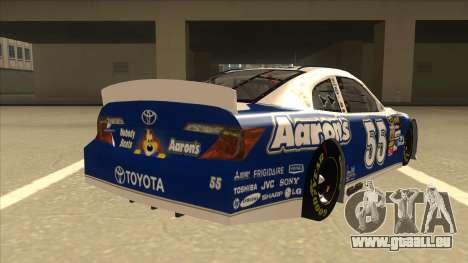 Toyota Camry NASCAR No. 55 Aarons DM blue-white pour GTA San Andreas vue de droite