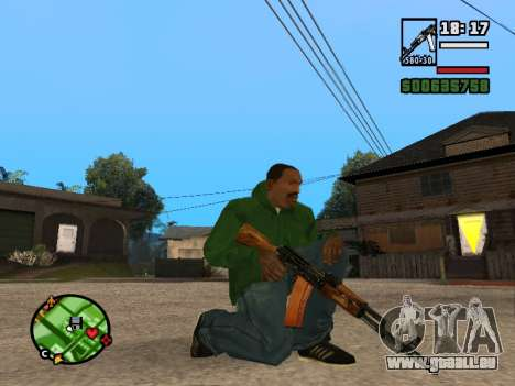 AK-74 für GTA San Andreas dritten Screenshot