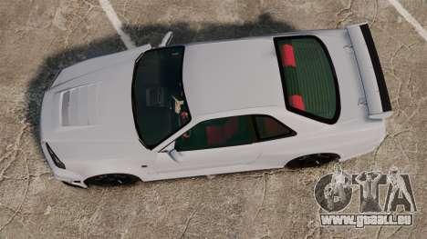 Nissan Skyline R34 GT-R NISMO Z-tune für GTA 4 rechte Ansicht