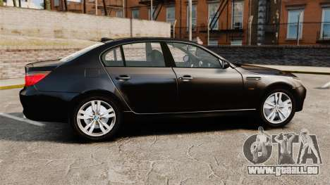 BMW M5 E60 Metropolitan Police Unmarked [ELS] pour GTA 4 est une gauche