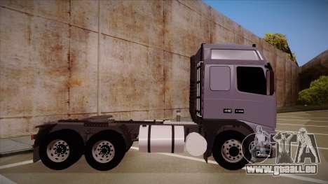 Volvo FH12 Globetrotter pour GTA San Andreas sur la vue arrière gauche