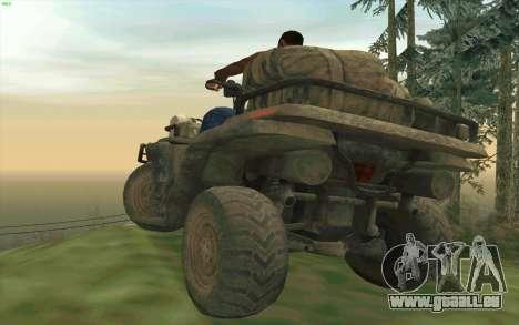 ATV der Medal Of Honor für GTA San Andreas Rückansicht