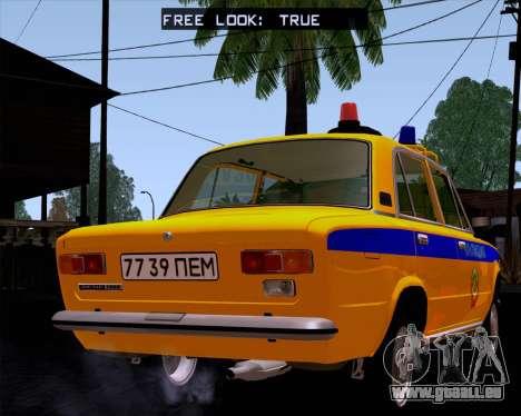 VAZ 21011 Police pour GTA San Andreas laissé vue