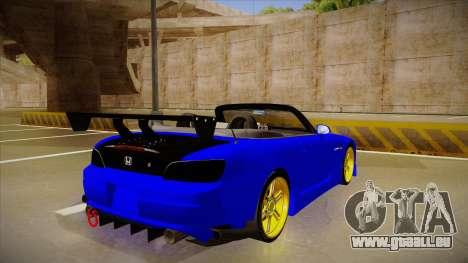 Honda S2000 C-West pour GTA San Andreas vue de droite