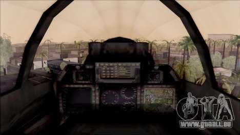 USA Navy Hydra für GTA San Andreas Innenansicht
