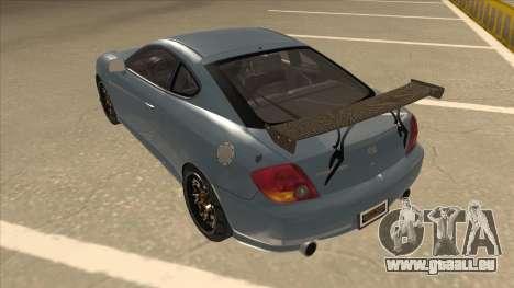 Hyundai Coupe V6 Soft Tuned v1 pour GTA San Andreas vue arrière