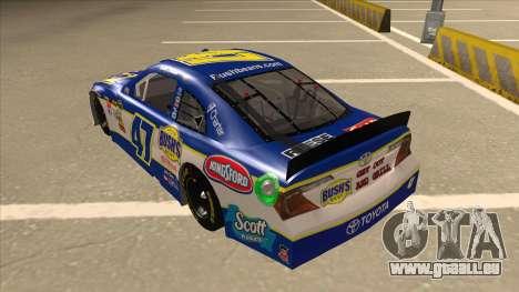 Toyota Camry NASCAR No. 47 Bushs Beans pour GTA San Andreas vue arrière
