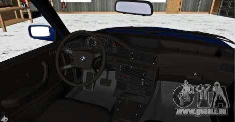 BMW 5-er E28 Tramp pour GTA San Andreas sur la vue arrière gauche