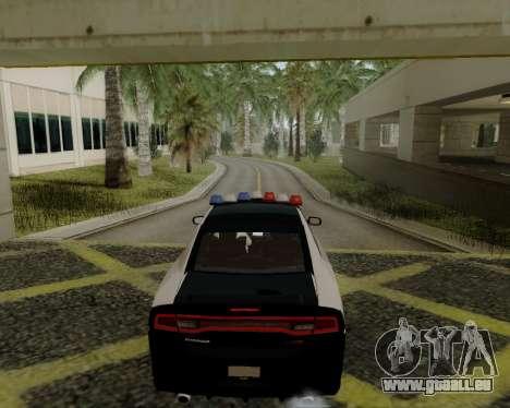 Dodge Charger 2012 Police IVF pour GTA San Andreas sur la vue arrière gauche