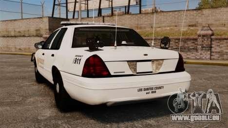 GTA V sheriff car [ELS] pour GTA 4 Vue arrière de la gauche