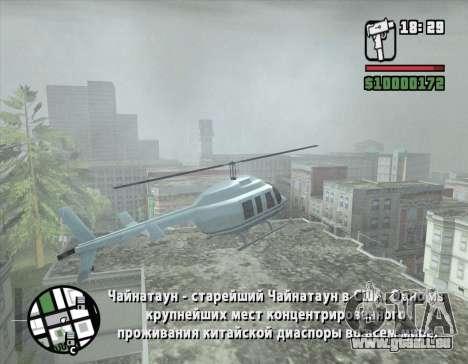 Tour en hélicoptère de San Fierro pour GTA San Andreas quatrième écran
