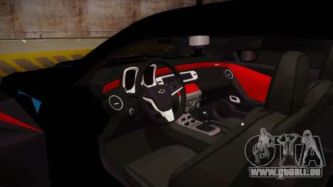 Chevrolet Camaro ZL1 2012 RCPD V1.0 für GTA San Andreas Innenansicht