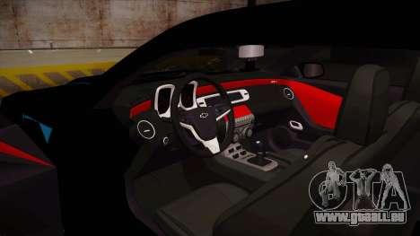 Chevrolet Camaro ZL1 2012 RCPD V1.0 pour GTA San Andreas vue intérieure